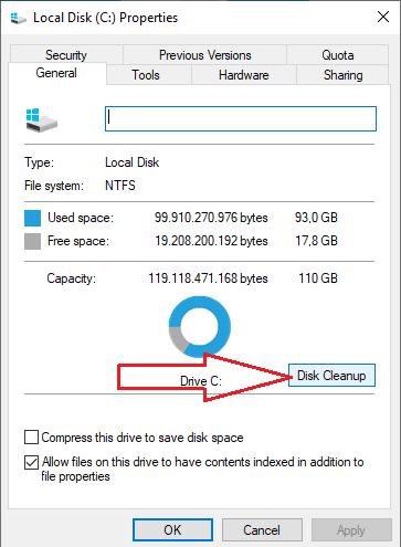 Membersihkan File Sampah pc dengan Disk Cleanup