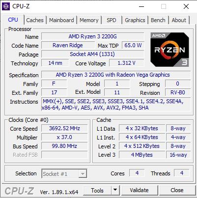 Melihat Spesifikasi Laptop dengan CPU-Z