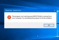 Cara Mengatasi msvcp140.dll missing